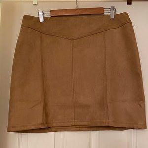 Brown suede white house black market mini skirt